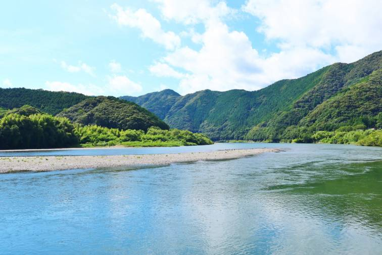 시만오가와 강 四万十川